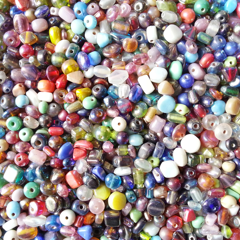 glass beads - rainbow spacer mix -16008 x 1KG